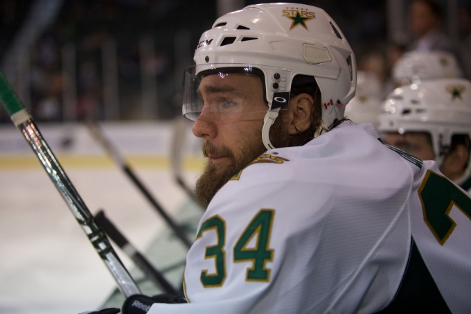 Luke Gazdic is headed to Edmonton. Photo by Christina Shapiro/Texas Stars