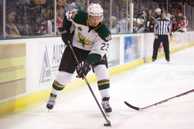 Travis Morin scored a goal and added an assist tonight. Christina Shapiro/Texas Stars