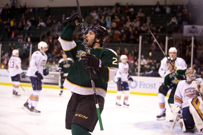 "Mike Hedden is the only member of the Texas Stars that didn't take the ""typical"" development route. (Photo by Christina Shapiro/Texas Stars)."
