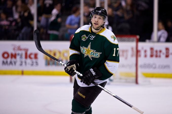 Chris Mueller had three points in his return to the lineup. (Photo by Christina Shapiro/Texas Stars)