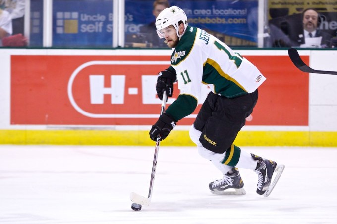Dustin Jeffrey scored twice in a 5-2 victory Thursday. (Photo by Christina Shapiro/Texas Stars).