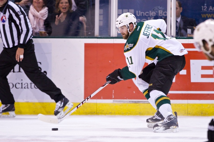Dustin Jeffrey wants to be back in the NHL next season. (Photo by Christina Shapiro/Texas Stars)