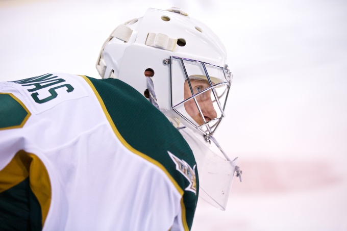 Jussi Rynnas will start one of the first two games in net for Texas. (Photo by Christina Shapiro/Texas Stars)