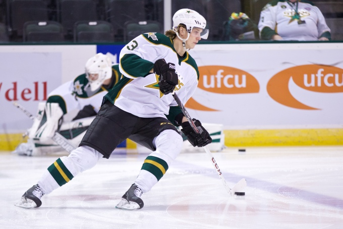 Jyrki Jokipakka with Texas last season. (Photo by Christina Shapiro/Texas Stars)