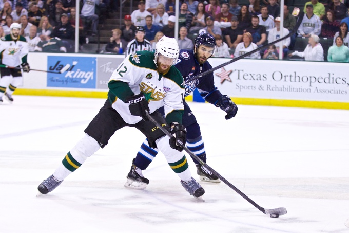 Patrik Nemeth during the 2014 Calder Cup Finals with Texas. (Photo by Christina Shapiro/Texas Stars)