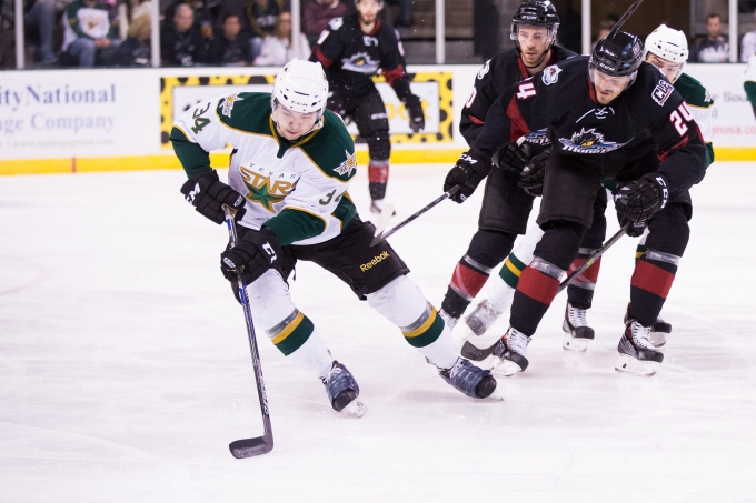 Devin Shore made his pro debut Wednesday. (Photo by Christina Shapiro/Texas Stars)