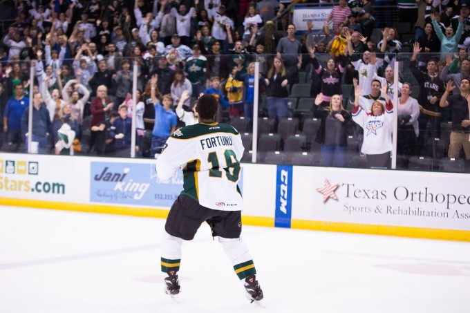 Maxime Fortunus has played his final game with the Texas Stars. (Photo by Christina Shapiro/Texas Stars)