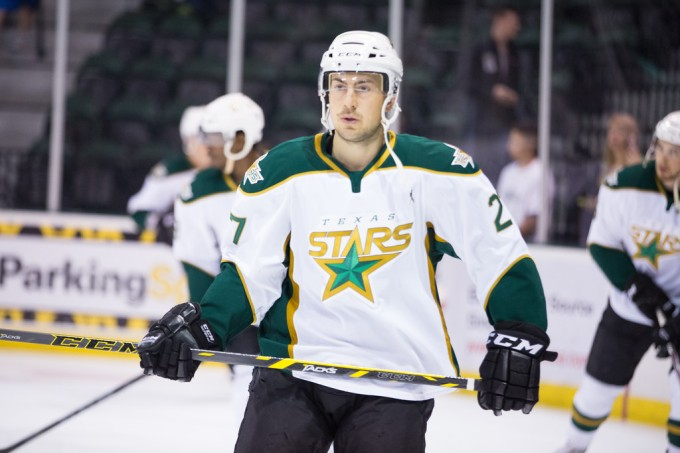 "Greg Rallo could potentially wear the ""C"" for Texas next season. (Photo by Christina Shapiro/Texas Stars)"