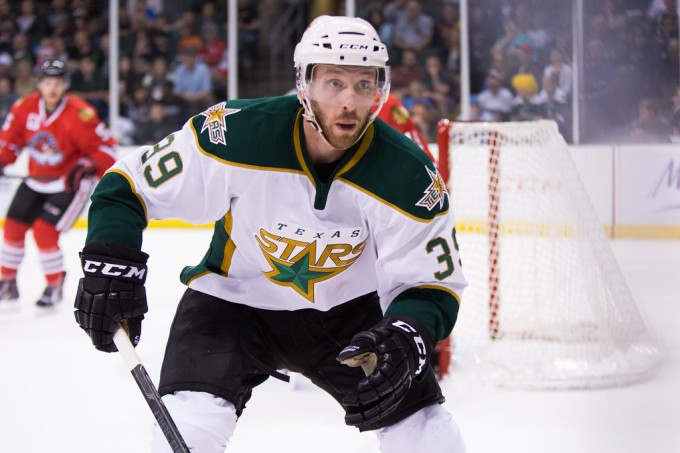 Derek Hulak has re-signed with the Texas Stars. (Photo by Christina Shapiro)