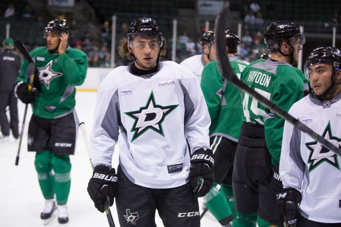 Remi Elie was practicing with the NHL group on Friday. (Photo by Christina Shapiro/Texas Stars)