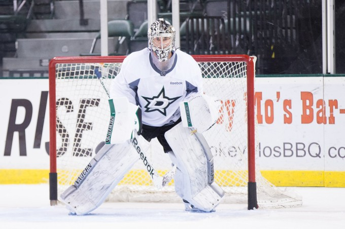 Jack Campbell in practice on Sunday. (Photo by Christina Shapiro/Texas Stars)