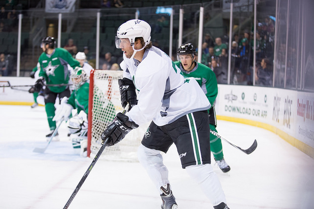 Travis Morin during the Stars scrimmage on Saturday. (Photo by Christina Shapiro/Texas Stars)