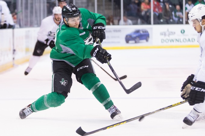 Branden Troock is in the lineup tonight for Texas. (Photo by Christina Shapiro/Texas Stars)