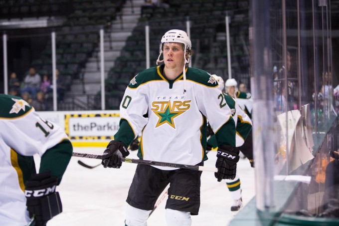 Brett Ritchie during a game last season. (Photo by Christina Shapiro/Texas Stars)