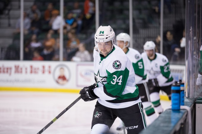 Devin Shore has been named the AHL player of the week. (Photo by Christina Shapiro/Texas Stars)