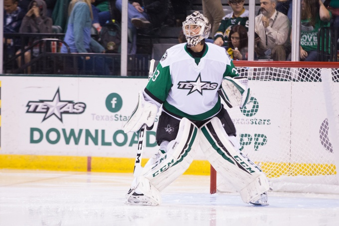 Maxime Lagace stopped 32 of 33 shots in a 1-0 loss. (Photo by Christina Shapiro/Texas Stars)