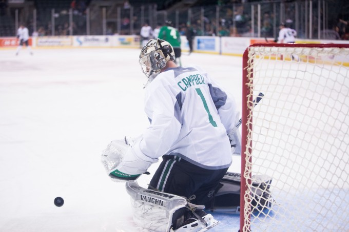 Jack Campbell has been officially assigned to the Texas Stars. (Photo by Christina Shapiro/Texas Stars)