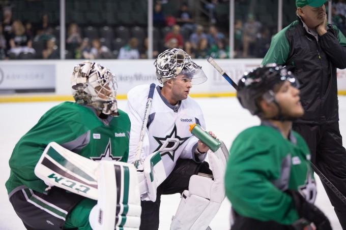 Jack Campbell during Dallas Stars training camp at Cedar Park Center. (Photo by Christina Shapiro/Texas Stars)