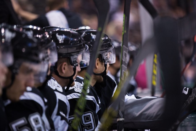 The San Antonio Rampage during a game last weekend. (Photo by Christina Shapiro/Texas Stars)